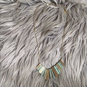 Gently Worn! LOFT Marble/Gold Statement Necklace